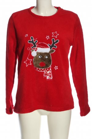 jumbo Christmasjumper red embroidered lettering casual look
