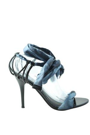 Jumelles High Heel Sandaletten schwarz-hellgrau Casual-Look