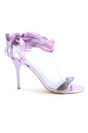 Jumelles Sandaletto con tacco alto lilla motivo astratto elegante
