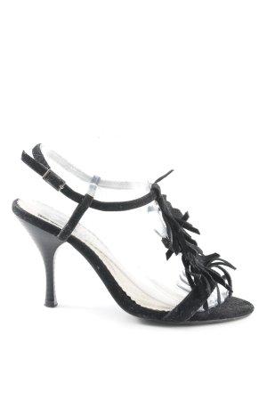 Jumelles High Heel Sandaletten schwarz Party-Look
