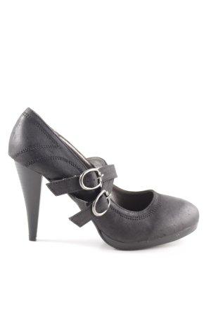 Jumelles Mary Jane Pumps schwarz extravaganter Stil
