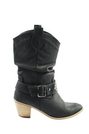 Jumex Absatz Stiefel schwarz Casual-Look