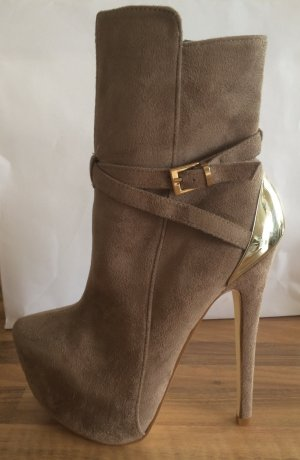 Jumex Extrem High Heels Stiefel mit Plateau Gr.37 Goldferse