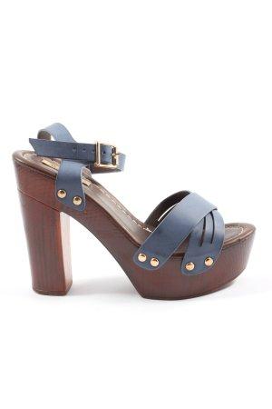 Jumex High Heel Sandaletten blau Casual-Look
