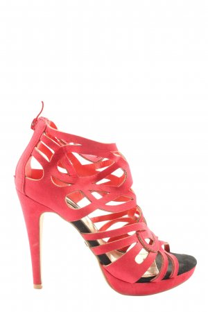 Jumex High Heel Sandaletten rot Casual-Look