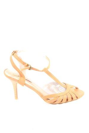 Jumex High Heel Sandaletten hellorange Casual-Look