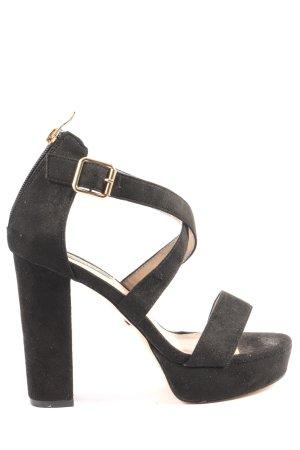 Jumex High Heel Sandaletten schwarz Casual-Look