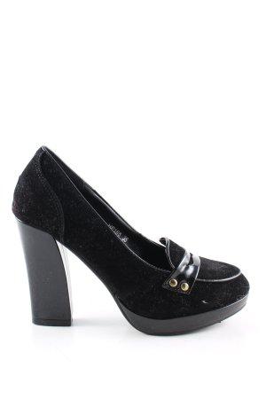 Jumex High Heels schwarz Casual-Look