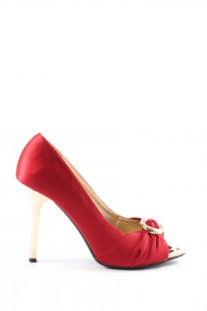 Jumex High Heels rot-goldfarben Elegant