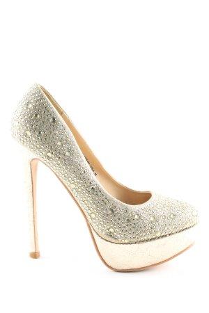 Jumex High Heels goldfarben Elegant