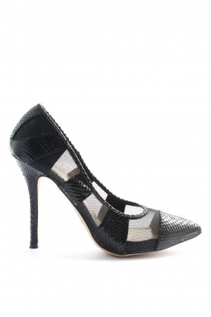 Jumex High Heels schwarz Animalmuster Elegant