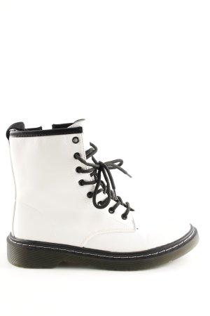 Jumex Botte courte blanc-noir style décontracté