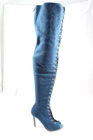Jumex Overknees blue elegant