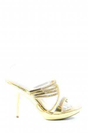 Jumex Peeptoe Pumps goldfarben Elegant