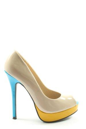 Jumex Peep Toe Pumps veelkleurig extravagante stijl