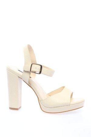 Jumex Sandalias de tacón con plataforma blanco puro elegante