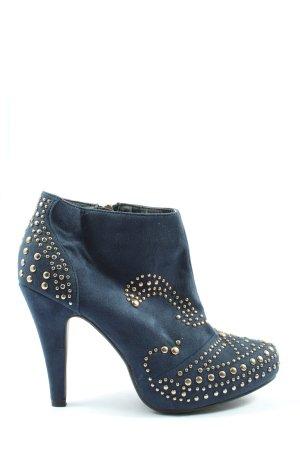 Jumex Reißverschluss-Stiefeletten blau Casual-Look