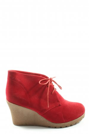 Jumex Lace-up Booties red elegant