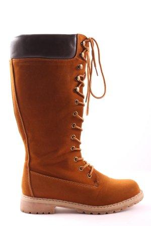 Jumex Bottes à lacets brun style décontracté