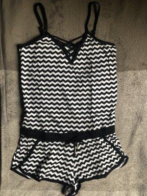 Pimkie Bib Shorts black-white
