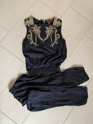 2love TONYCOHEN Jumpsuit donkerblauw-goud