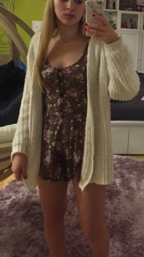 Leisure suit brown-pink