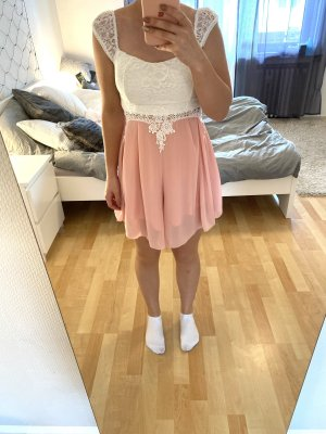 Combinaison blanc-rose