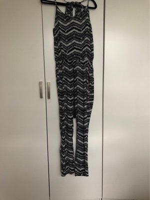 Sublevel Jumpsuit black-white
