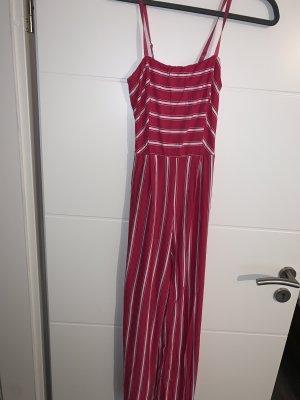0039 Italy Pantalon roze-wit