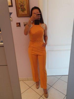 100% Fashion Langer Jumpsuit arancione scuro