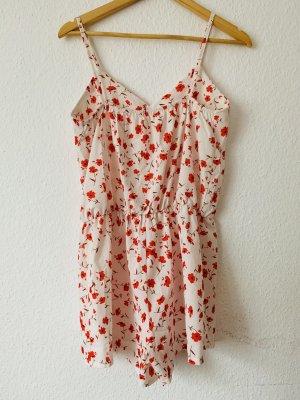 Tailleur-pantalon blanc-rouge