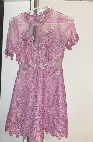 Guess Vestido de cóctel rosa