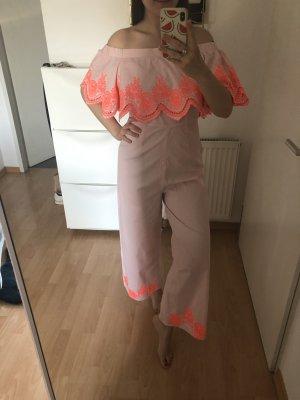 Asos Capo da spiaggia rosa chiaro-arancio neon