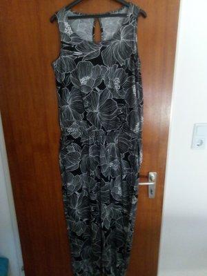 Esmara Jumpsuit white-black viscose