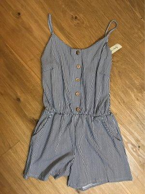 Bodysuit Blouse white-blue