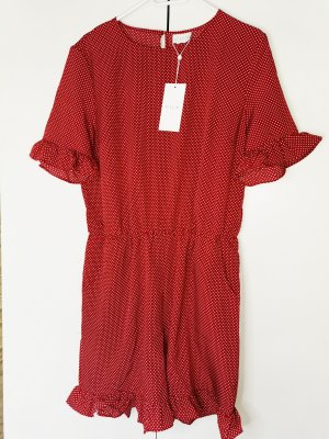 Vero Moda Kurzer Jumpsuit black-brick red
