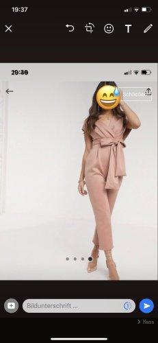 Asos Traje de pantalón color rosa dorado-crema