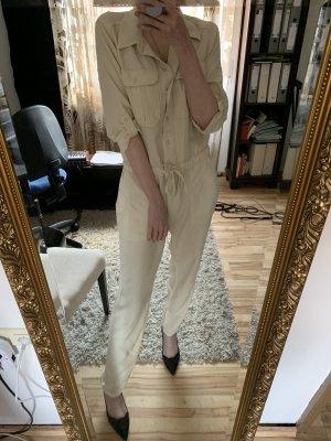 Jumpsuit beige/Creme aus Lyocell von Topshop, M/L