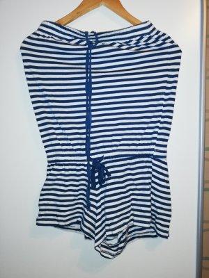 Jumpsuit blau/weiß gestreift