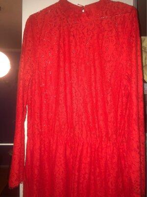 H&M Koronkowa sukienka czerwony