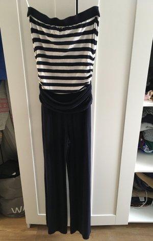 Apart Jumpsuit donkerblauw-wit Viscose