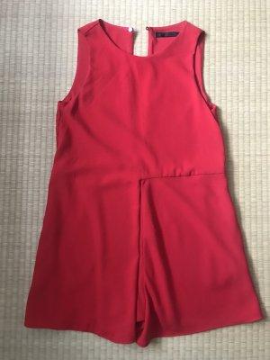 Zara Salopette courte rouge brique