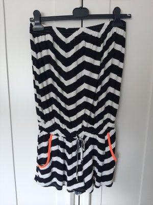 Lascana Kurzer Jumpsuit white-black