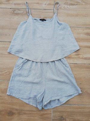 Esmara Kurzer Jumpsuit grey-pale blue