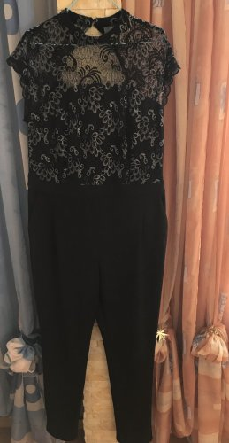 Yessica Jumpsuit black-silver-colored