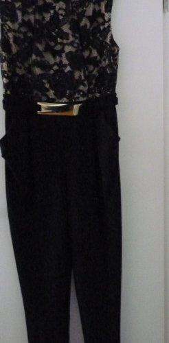 Bodyflirt Spodnie palazzo w kolorze różowego złota-czarny Poliester