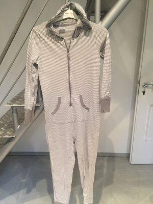 Completo sportivo grigio chiaro-bianco