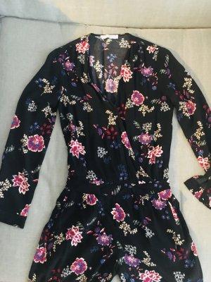 Promod Tailleur pantalone nero-rosa Tessuto misto