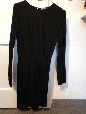 Jumpsuit in schwarz Wickeloptik 36