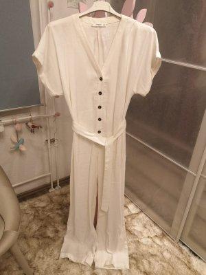 Mango Langer Jumpsuit w kolorze białej wełny